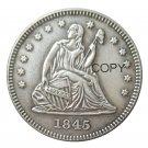 USA 1845 Seated Liberty Quarter Dollars 25 Cent Copy Coin