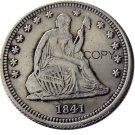 USA 1841 Seated Liberty Quarter Dollars 25 Cent Copy Coin