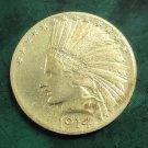 US 1914 Indian Head Ten Dollars Copy Coin