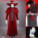 Hellsing Ultimate Alucard Full Set Women Men Halloween Party Cosplay Costume