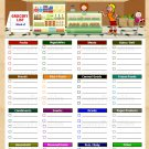 Grocery List with Categories Printable