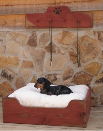 Unique Dog Bed and Leash Holder Set - Choose from over 50 Colors