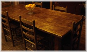 Handmade Pine Farm Table Seats 8 -- Free Shipping