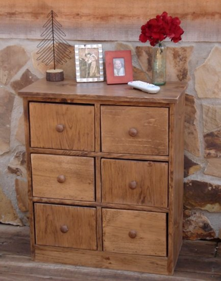 Handmade Nightstand 3 Drawers / 3 Cubbies You choose the color!