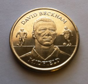 2004 David Beckham Official England Squad Medal