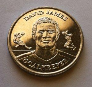 2004 David James Official England Squad Medal