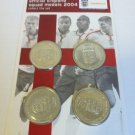 2004 Official England Squad Medals card of 4 - SEALED
