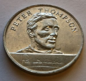 Peter Thompson - 1970 England World Cup Squad Medal