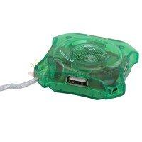 Mini 4-port USB 2.0 Hub (Green)