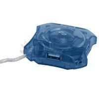 Mini 4-port USB 2.0 Hub (Blue)