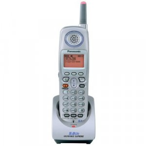 Panasonic Platinum 5.8GHz Expandable Cordless Telephone Handset