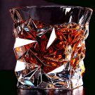 Crystal Whiskey Rock Glass - Set of 2 Old Fashioned Tumbler 9.4 OZ