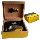 COHIBA Cedarwood Lined Cigar Humidor Case, Ashtray, Cutter Gift Box Set