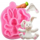 Silicone Mold Cupcake Rabbit Easter Bunny Cake Christmas Baking Candy Mould