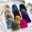 Winter Hat Women's Knitted Beanie Warm Candy Color Ski Ladies Cap Knit Headwear