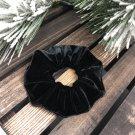 Black Velvet Scrunchies. Handmade