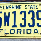 1961 Florida License Plate Manatee County 15w13395 '61 FL tag YOM REGISTER