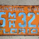 Nice 1955 Florida License Plate Manatee County '55 FL REFLECTIVE NUMBERS tag