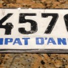 Principat D Andorra License Plate Principality with COAT OF ARMS 45704 Foreign