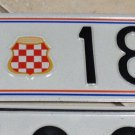 Croatia HVO License Plate ARMY MILITARY 189-E Wow! Foreign Tag