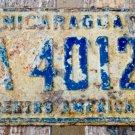 RARE 1977 Nicaragua License Plate CARAZO CA 40120 Foreign tag Centroamerica NIC