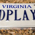 1995 Virginia License Plate 2 D PLAYA to The Beach Spanish Ocean Sea Player Dude
