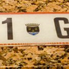 Republic Of Gabon License Plate Ogooue Maritime Port Gentil Africa Foreign Tag