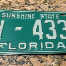 1969 1970 Florida License Plate Orange County 7w-4332 '69 FL tag YOM REGISTER