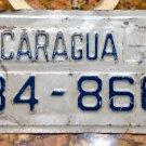 1990s Nicaragua Motorcycle license plate 34866 Placa De Moto