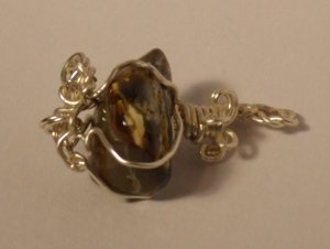 Great Brown Polished Agate Pendant