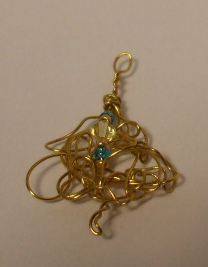 Crystal Wrapped Wire Pendant