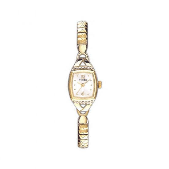 Ladies Fashion Watch with Gold Tone Expansion