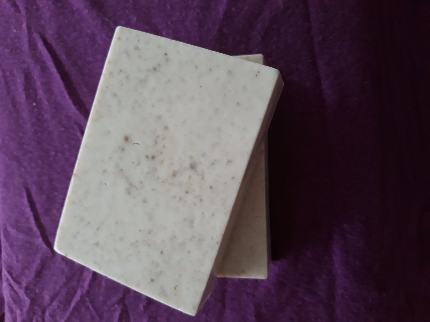 Chocolate almond oatmeal soap bar
