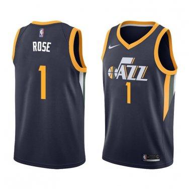 los angeles 4698a 9f1fd Men's derrick rose #1 utah jazz swingman icon edition jersey