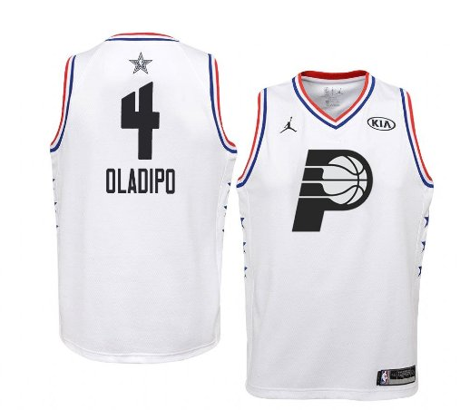 factory authentic 59711 c58d9 Men's Indiana Pacers #4 White Victor Oladipo 2019 All-Star Game Swingman  Jersey