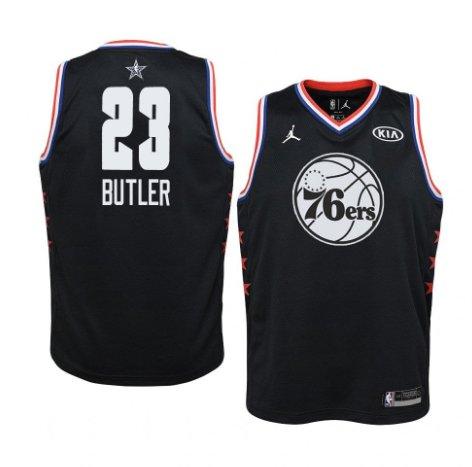 size 40 326d1 f4313 Men's Philadelphia 76ers #23 Black Jimmy Butler 2019 All-Star Game Swingman  Jersey