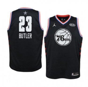 size 40 55f2c 04efd Men's Philadelphia 76ers #23 Black Jimmy Butler 2019 All-Star Game Swingman  Jersey