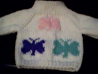 Handmade Three Butterflies Sweater for 16 inch Cabbage Patch Kid Doll