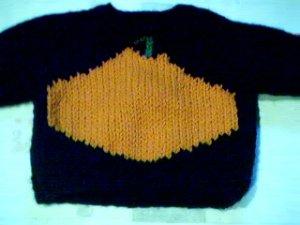 Handmade Halloween Pumpkin Sweater for 16 inch Cabbage Patch Kid Doll