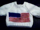 Handmade American Flag Sweater for 15 inch Bitty Baby Doll