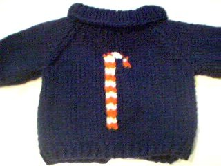 Handmade Christmas Candy Cane Sweater for 15 inch Bitty Baby Doll