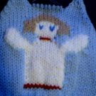 Handmade Christmas Angel Sweater for 15 inch Bitty Baby Doll