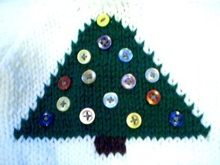 Handmade Christmas Tree Sweater for 15 inch Bitty Baby Doll