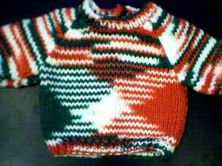 Handmade Multicolored Sweater for 15 inch Bitty Baby Doll