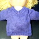 Handmade Solid Color V Neck Pullover Sweater for 15 inch Bitty Baby Doll