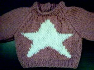 Handmade Christmas Star Sweater for 15 inch Bitty Baby Doll