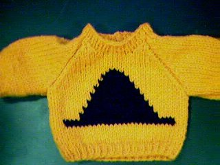 Handmade Halloween Witch Hat Sweater for 15 inch Bitty Baby Doll