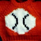 Handmade Cabbage Patch Kid Doll Sweater - Baseball
