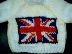 Handmade Build A Bear Sweater - Union Jack Flag