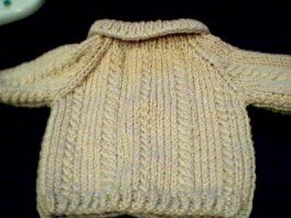 Handmade Build A Bear Cub Sweater - Cable Twist